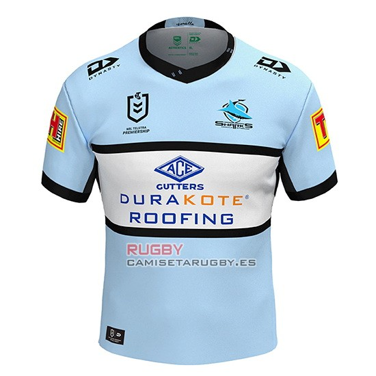 Camiseta Cronulla Sutherland Sharks Rugby 2020 Local
